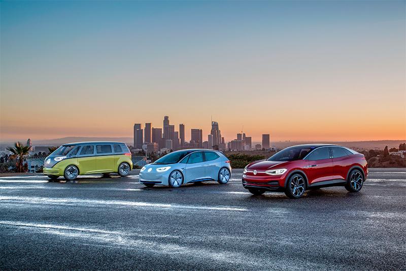 Fotografía de vehículos eléctricos de Volkswagen